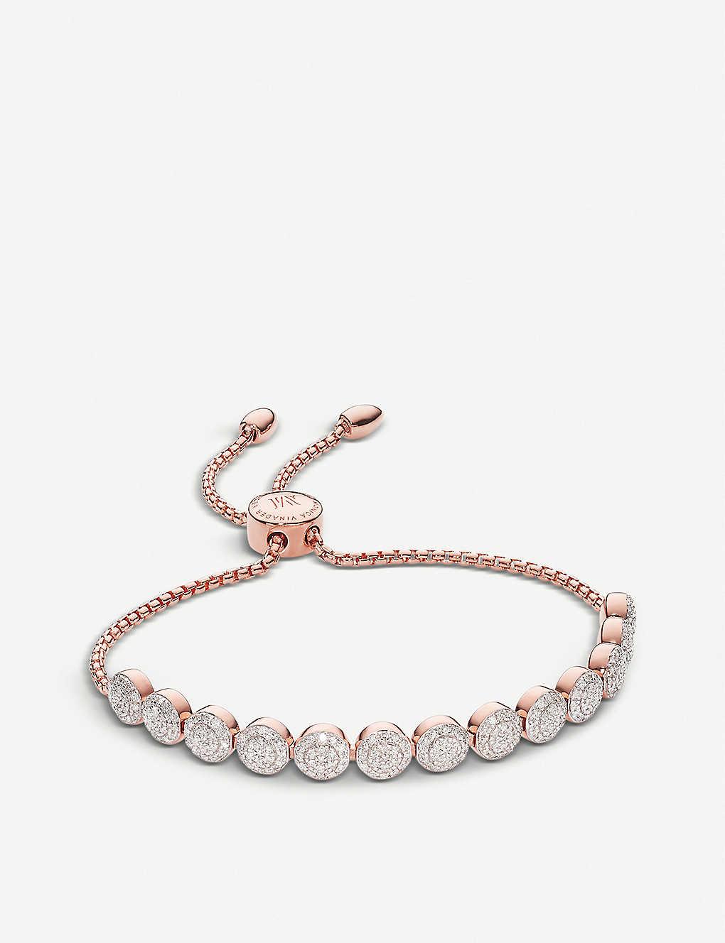 Gold Fiji Button Friendship Chain Bracelet Diamond Monica Vinader IYzkVG