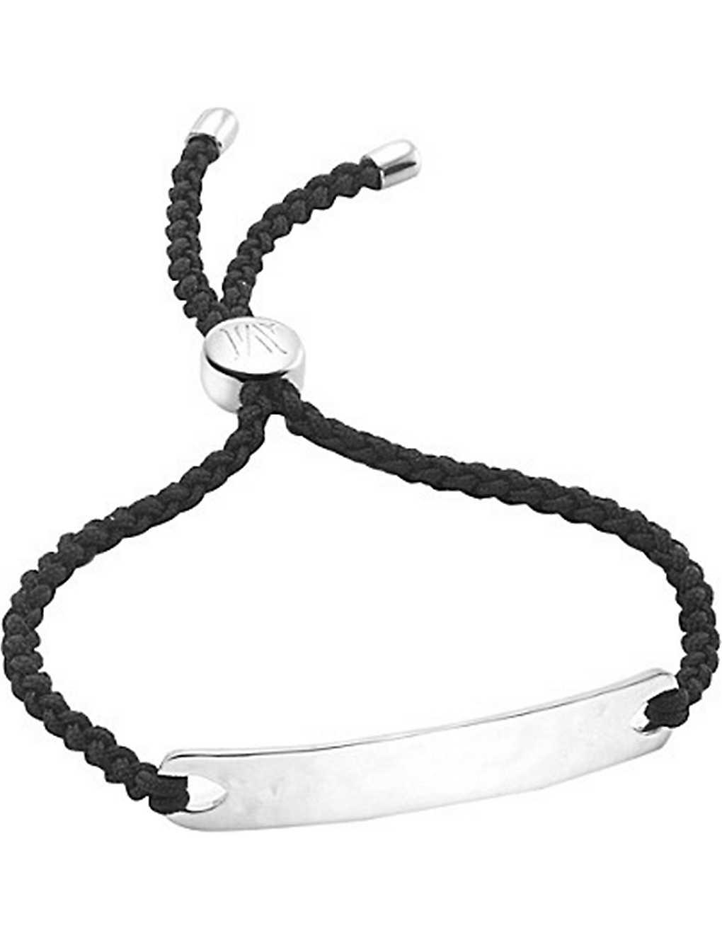 Havana Friendship Bracelet- Black, Gold Vermeil on Silver Monica Vinader