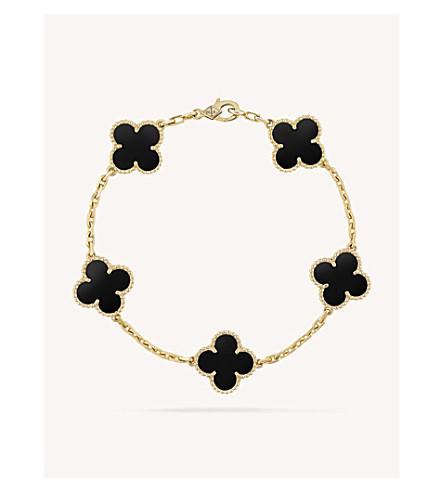 Vintage Alhambra Gold And Onyx Bracelet by Van Cleef & Arpels
