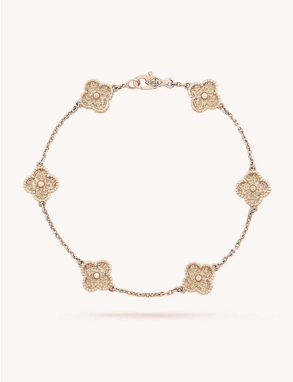 arpels m alhambra van no pinkgold cleef gb recent pdp searches en zoom sweet gold vca cat bracelet selfridges com