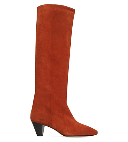 Isabel Marant Étoile Suede Knee-High Boots Clearance Visit New Sale Store PkDUhXn8