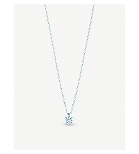 Tiffany co platinum and solitaire diamond pendant necklace tiffany co platinum and solitaire diamond pendant necklace aloadofball Images