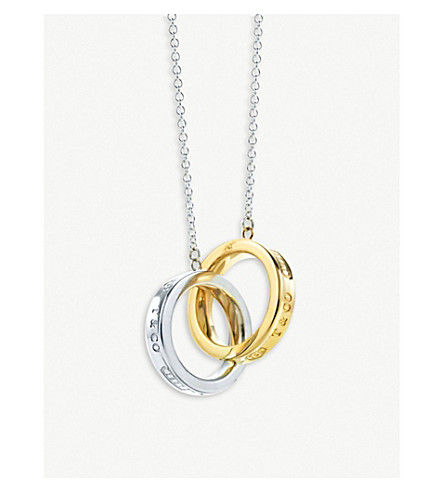 Tiffany 1837 Interlocking Circles 18ct Gold And Sterling Silver Pendant by Tiffany & Co