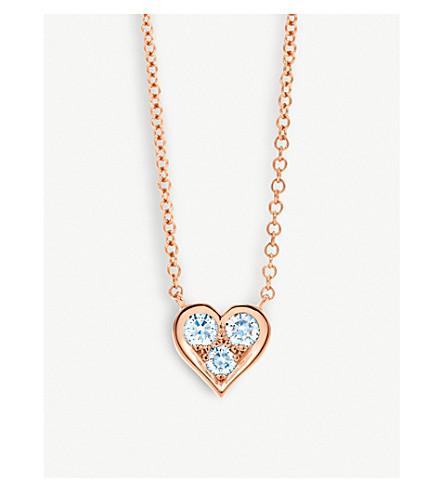 Tiffany co 18ct rose gold and diamond heart pendant necklace tiffany co 18ct rose gold and diamond heart pendant necklace aloadofball Image collections