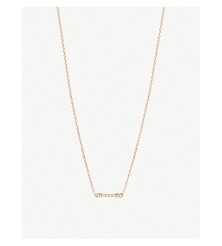 Fleur De Lis Key Stem 18ct Rose Gold And Diamond Pendant Necklace by Tiffany & Co