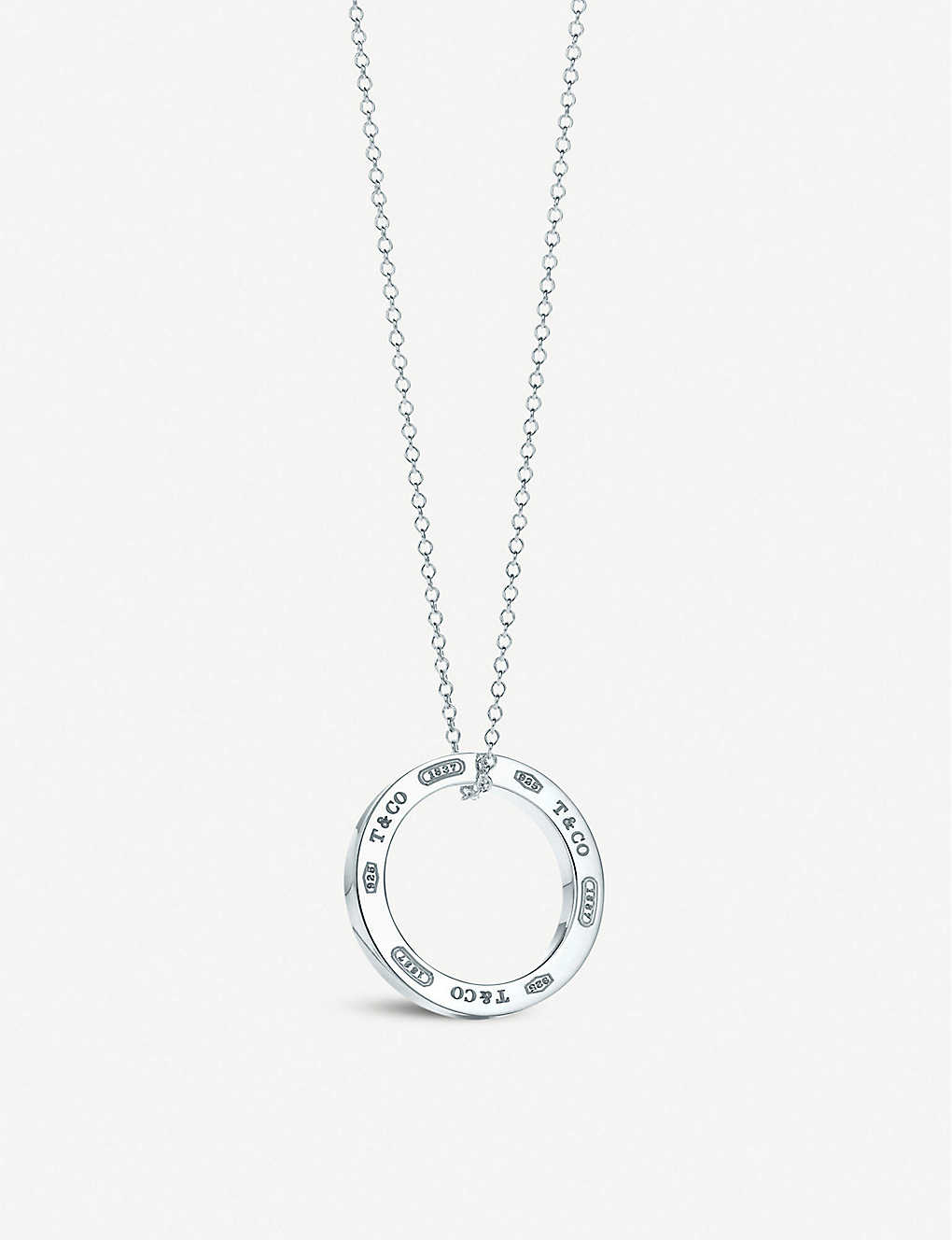 Tiffany co fine jewellery jewellery watches selfridges tiffany co tiffany 1837 circle pendant in sterling silver medium aloadofball