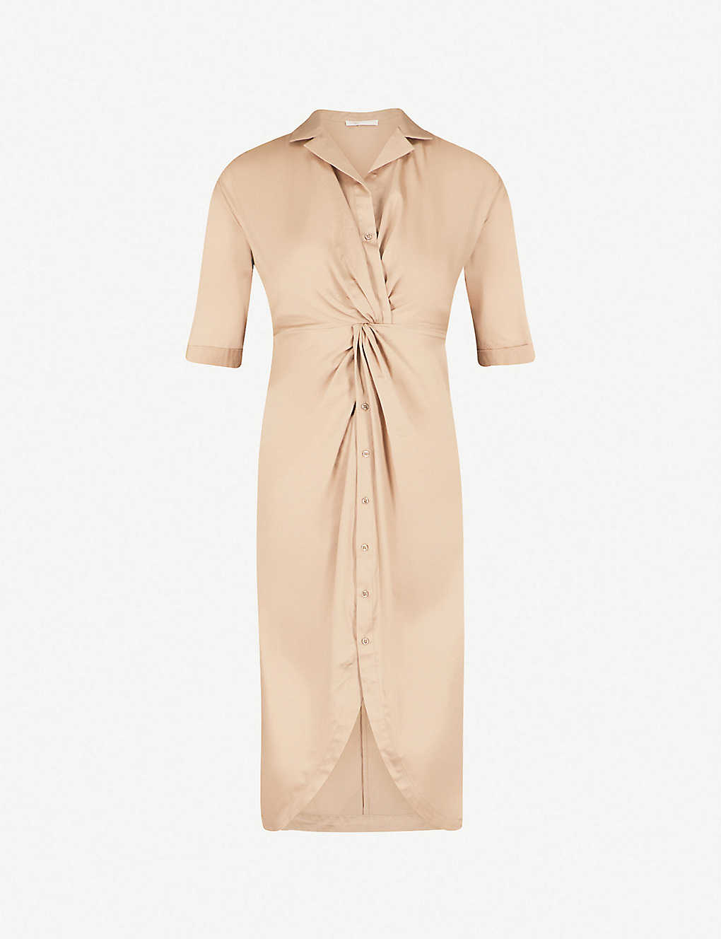 Maje Rejane Knot Detail Cotton Poplin Shirt Dress Selfridges