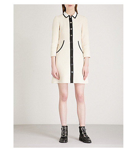 Renalo Cotton Tweed Mini Dress by Maje