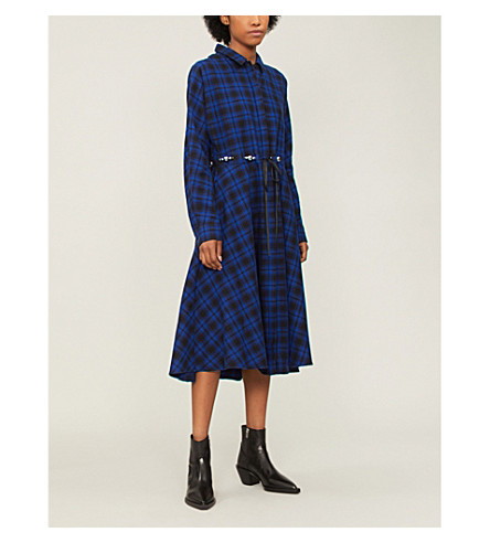 Rebel Checked Cotton Dress by Maje