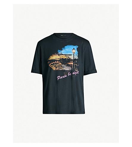 Cotton Jersey Paris Tara T Printed Shirt Maje U1n6x0tB