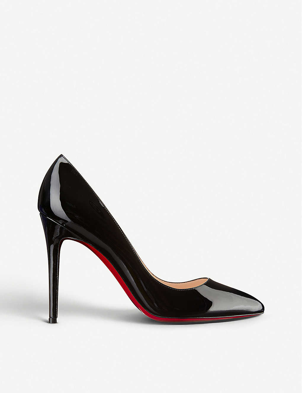 Christian Louboutin Patent Leather Platform Slingback Pumps