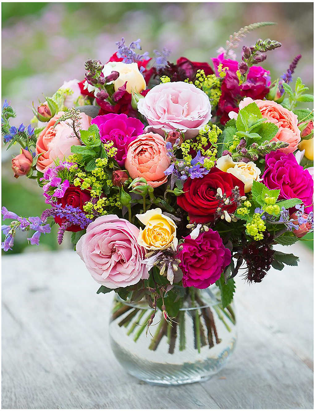 THE REAL FLOWER COMPANY - English Rainbow luxury flower bouquet ...