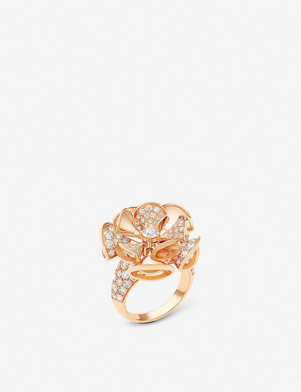 bvlgari divasu0027 dream 18kt pinkgold and diamond ring quick view wish list