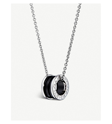 Bvlgari save the children black ceramic and sterling silver sterling silver pendant necklace previousnext mozeypictures Gallery