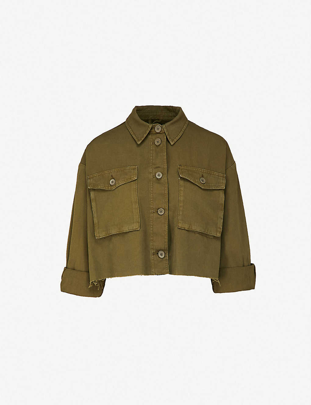 TOPSHOP - Sonny cropped cotton jacket  f5dc221f81f9d