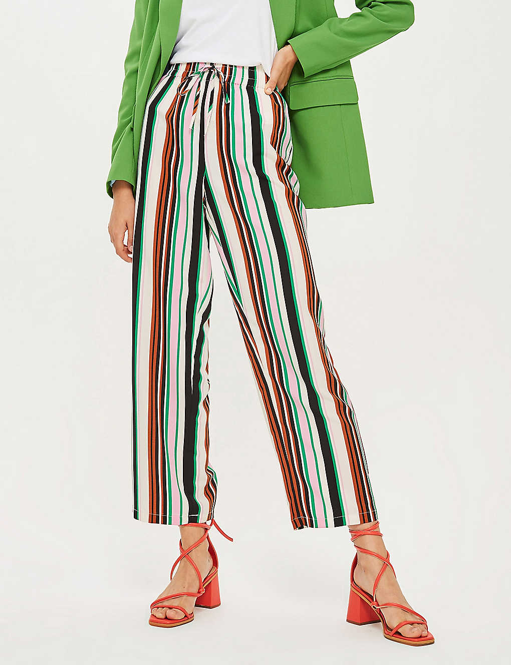 Striped leg trousers wide TOPSHOP woven UVGMzqSp