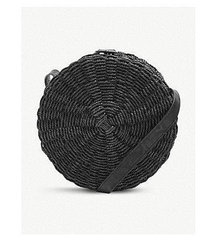 Barbar Straw Circle Cross Body Bag by Topshop