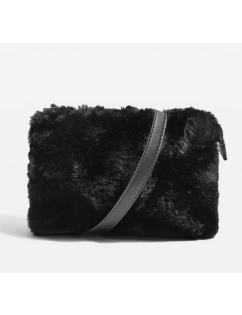 28495d8a1467 TOPSHOP - Rupert faux-fur shoulder bag