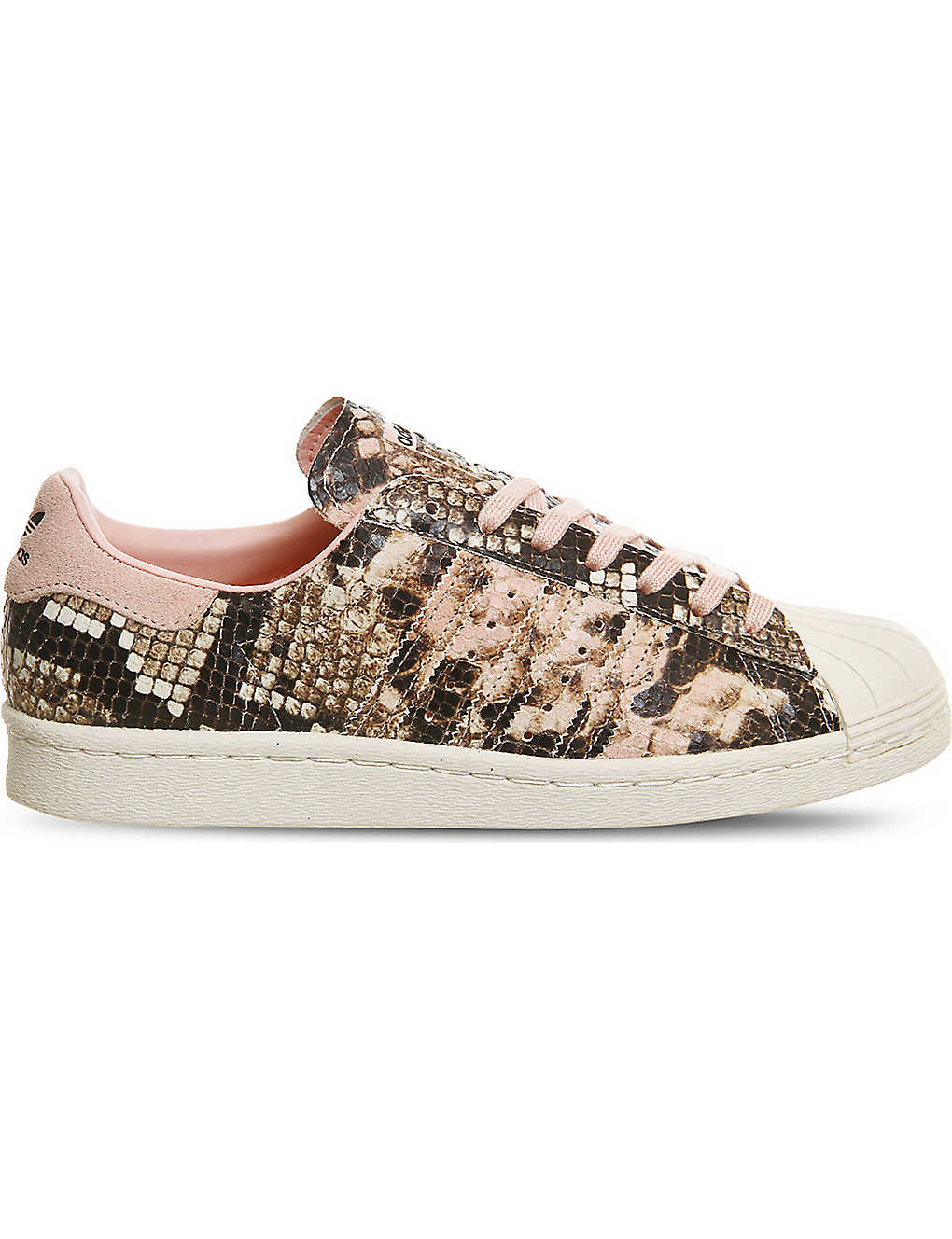 ADIDAS - Superstar 80s snake-effect leather trainers  d07fd3494373