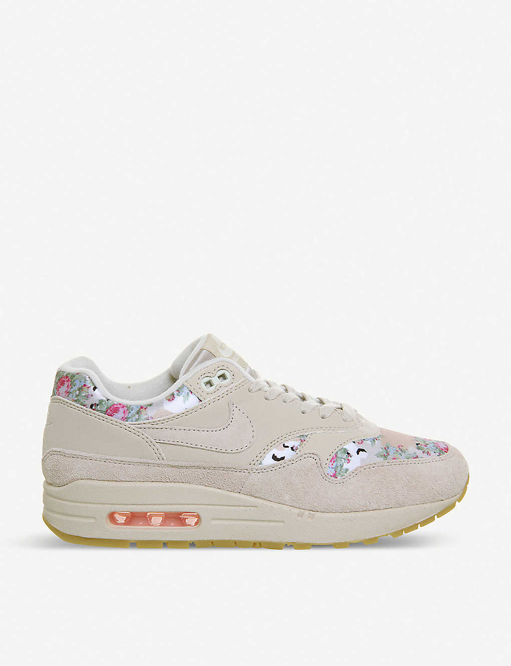 57237a4d4691d NIKE - Air Max 1 floral-print leather trainers