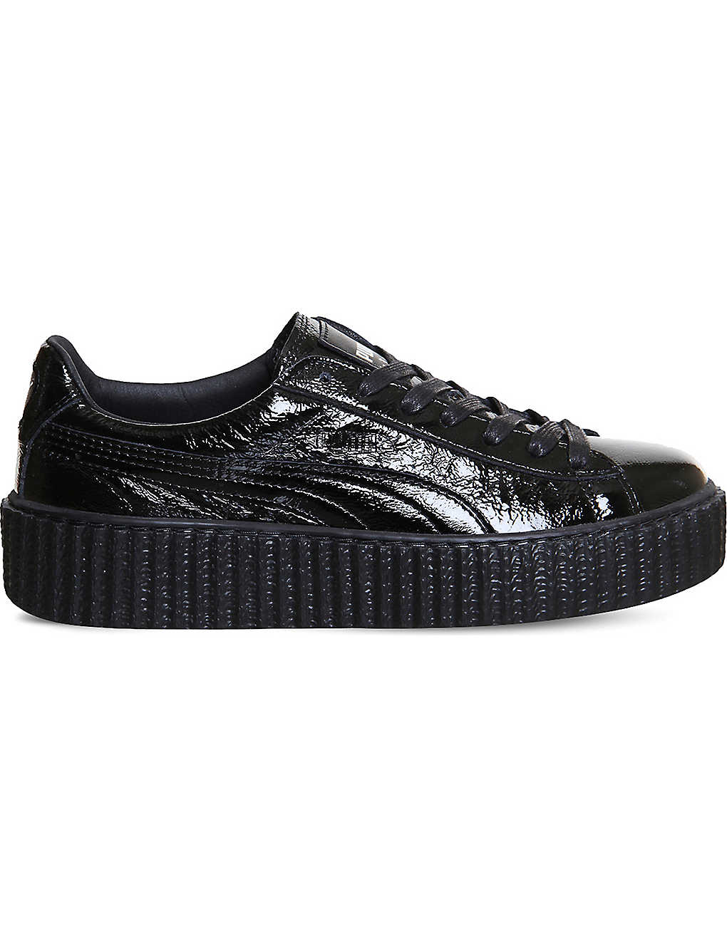 0238c39e319 PUMA - Basket Creeper patent leather trainers