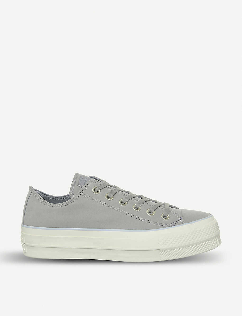3a2705842b19 CONVERSE - All Star Low Platform leather trainers