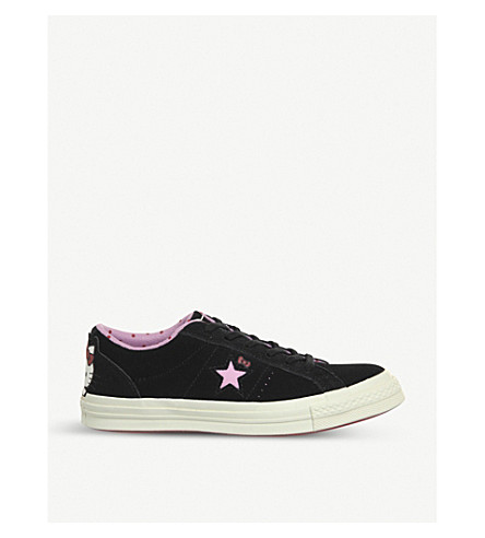0a89b744823a41 ... CONVERSE Hello Kitty One Star low-top suede trainers (Pink+hello+kitty.  PreviousNext