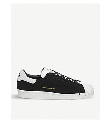 222f93e25442 ... ADIDAS Y3 Y-3 Superstar Knot suede low-top trainers (Black+white.  PreviousNext