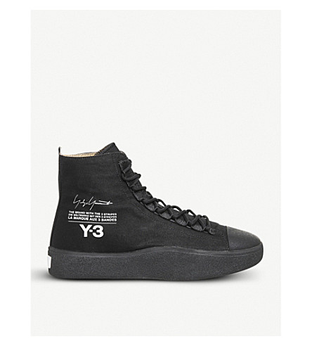 ADIDAS Y3 - Y-3 Bashyo suede high-top trainers  e5e13afd9a81