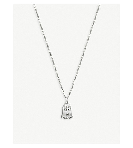 guccighost-sterling-silver-ghost-necklace by gucci