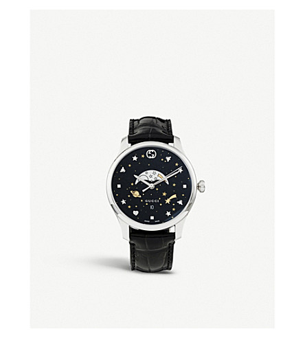 Ya126327 G Timeless Stainless Steel And Leather Watch by Gucci