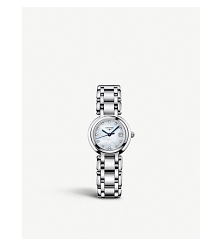 L8.110.4.87.6 Prima Luna Stainless Steel And Diamond Watch by Longines
