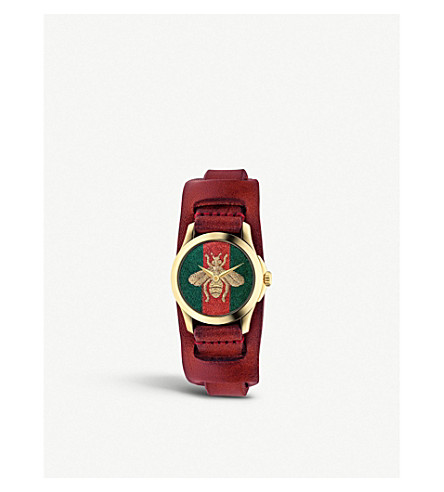 Ya126546 G Timeless Gold Plated Stainless Steel Watch by Gucci