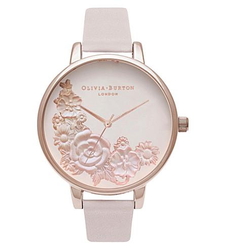 Ob16 Fs85 3 D Floral Watch by Olivia Burton
