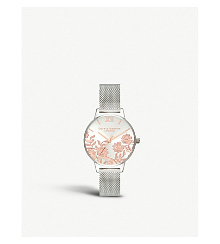... OLIVIA BURTON OB16MV90 Lace Detail Rose-Gold   Silver Mesh watch.  PreviousNext 8082f07a09