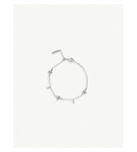 Queen Bee Sterling Silver And Mother Of Pearl Bracelet by Olivia Burton