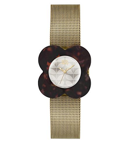 ORLA KIELY Poppy stainless steel watch (Cream