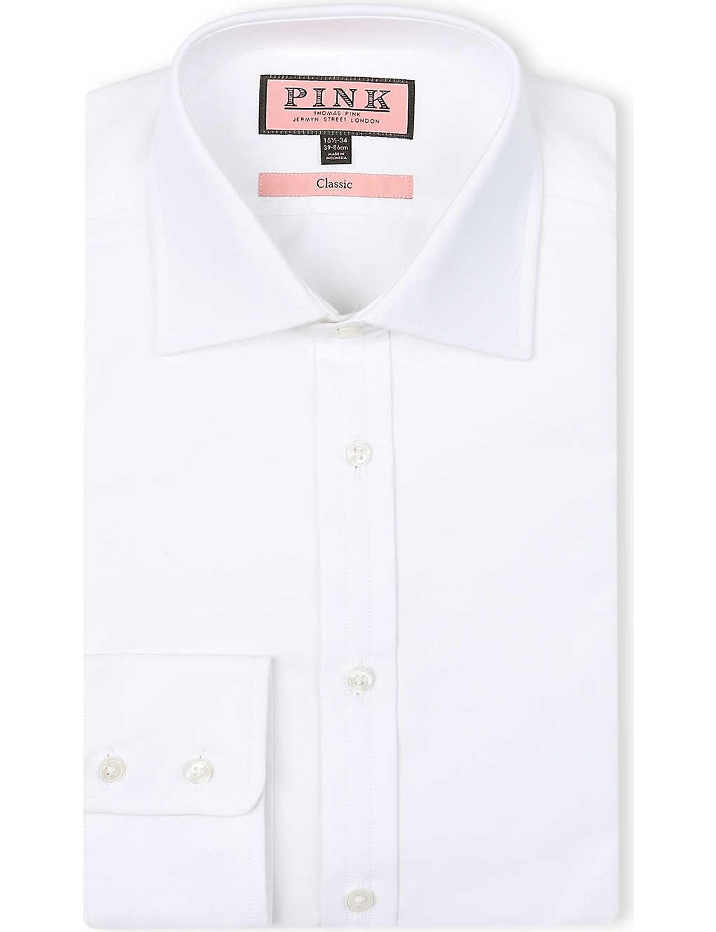 Thomas Pink Royal Oxford Classic Fit Single Cuff Shirt