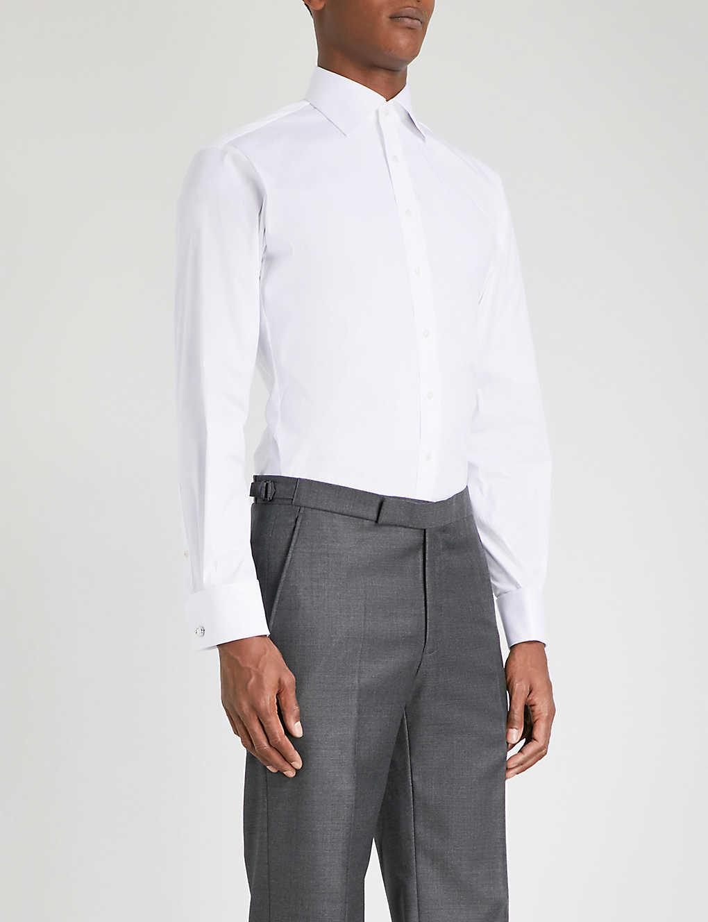 Thomas Pink Athletic Fit Stretch Cotton Shirt Selfridges