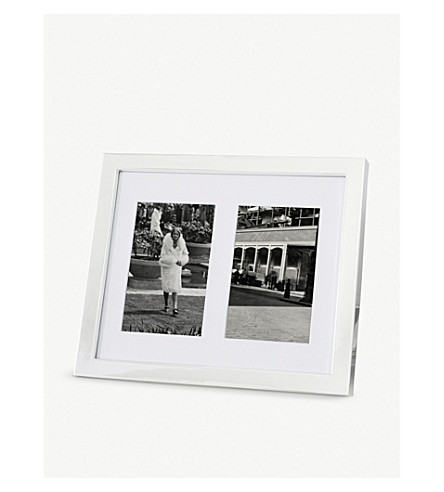 THE WHITE COMPANY - Classic silver double photo frame 4x6 ...