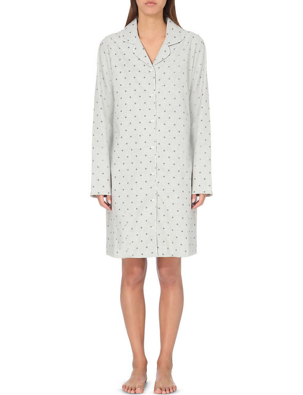 6434b3066e THE WHITE COMPANY - Star-print flannel nightshirt
