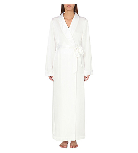 THE WHITE COMPANY - Shawl-lapel silk-satin dressing gown ...