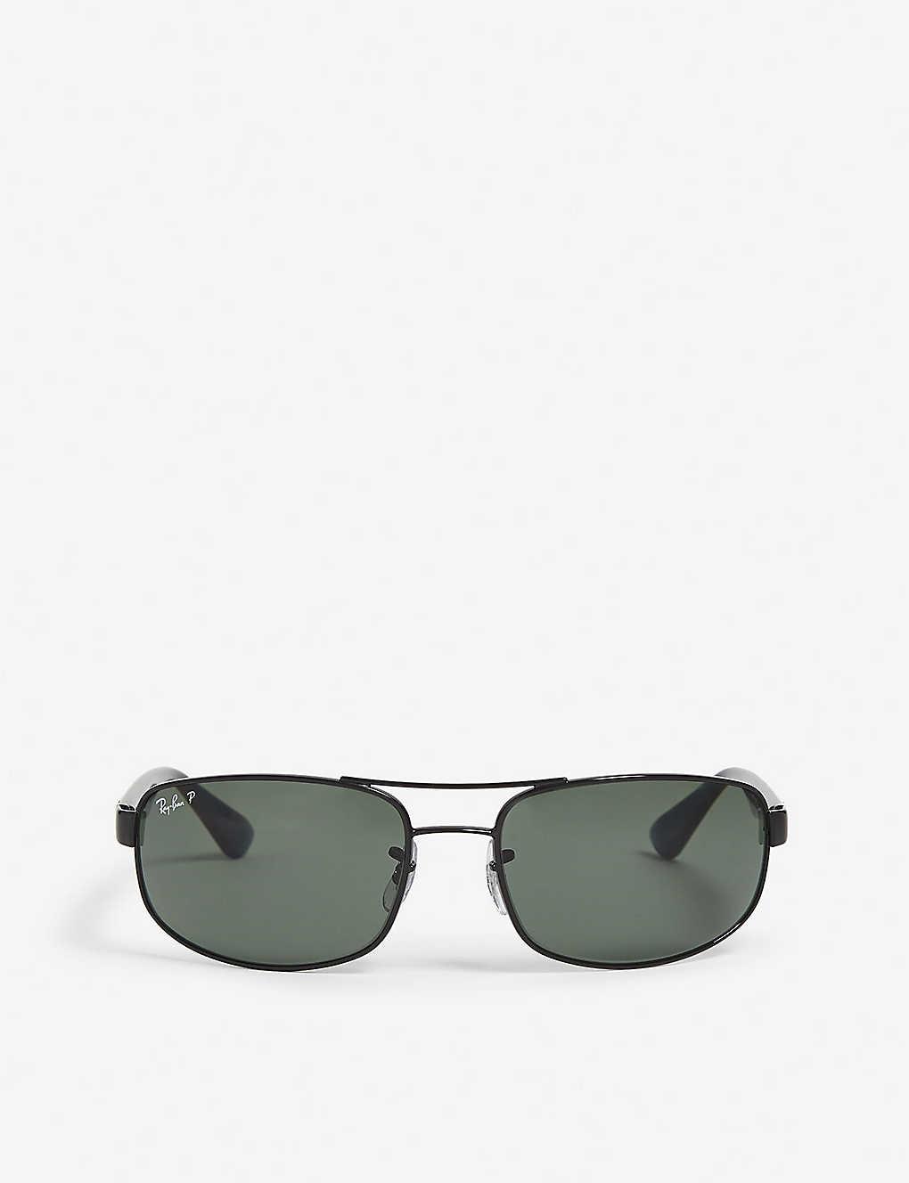 8d282bbe617db RAY-BAN - Aviator rectangle sunglasses   Selfridges.com