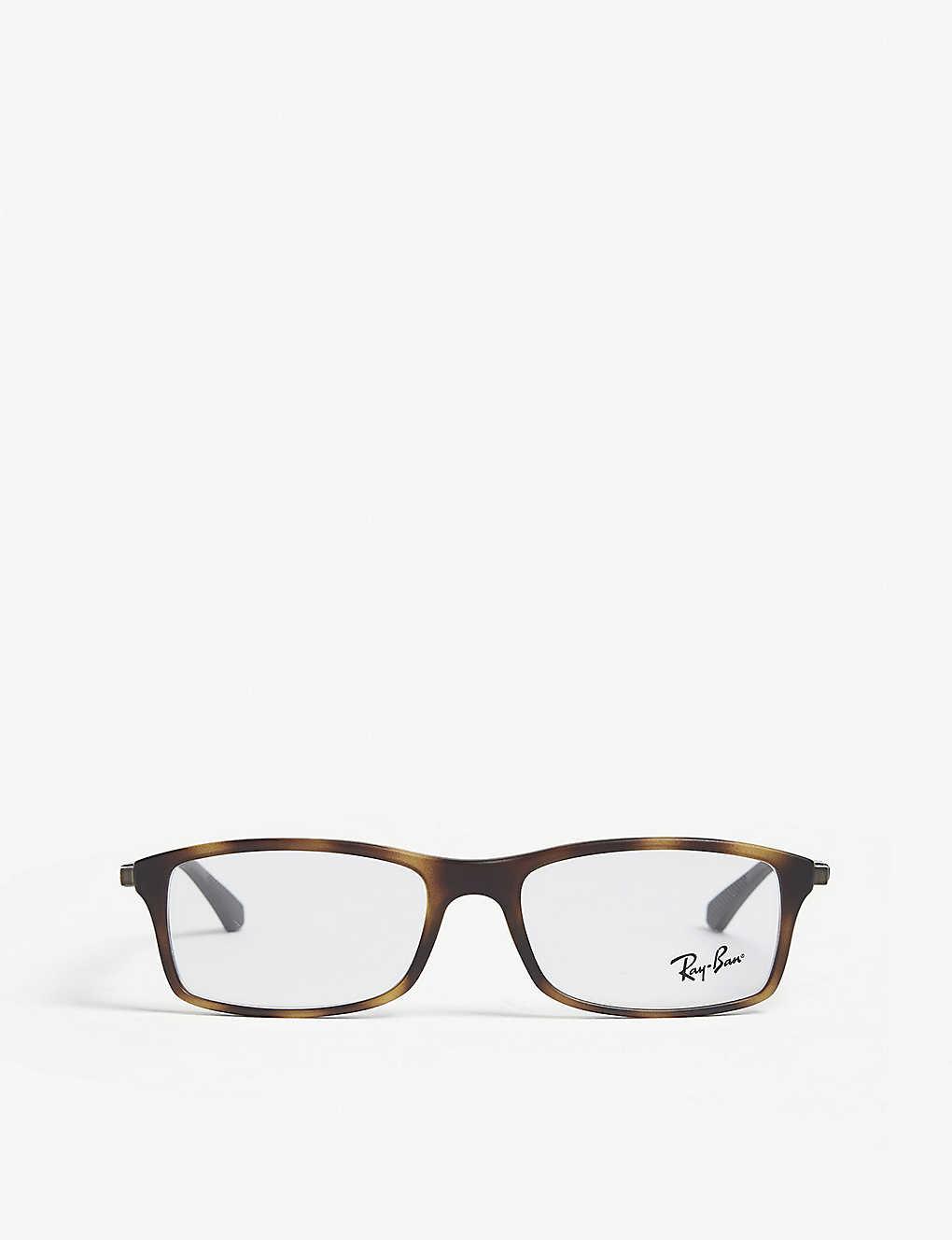 cde16cde31 RAY-BAN - RB7017 rectangle-frame Havana glasses