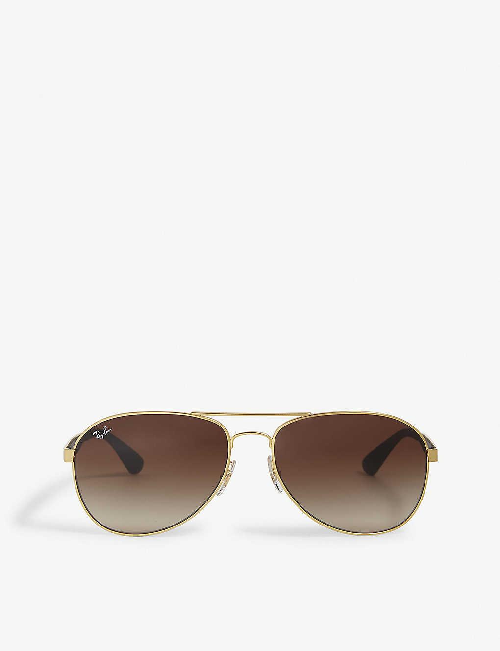 0d3f9da655 RAY-BAN - Gold pilot sunglasses