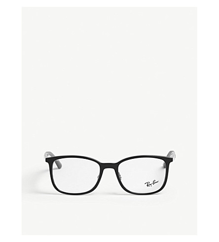 5b818289f0f ... square-frame optical glasses (Black. PreviousNext