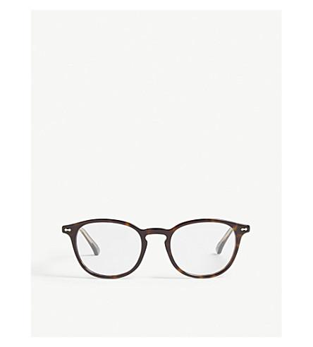 GUCCI - GG0187O round-frame Havana glasses | Selfridges.com