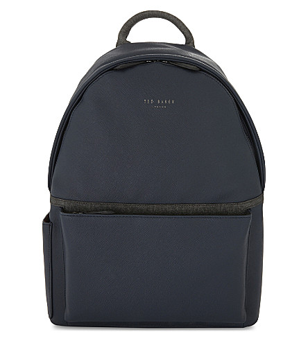 Fangs Crossgrain Leather Backpack by Ted Baker