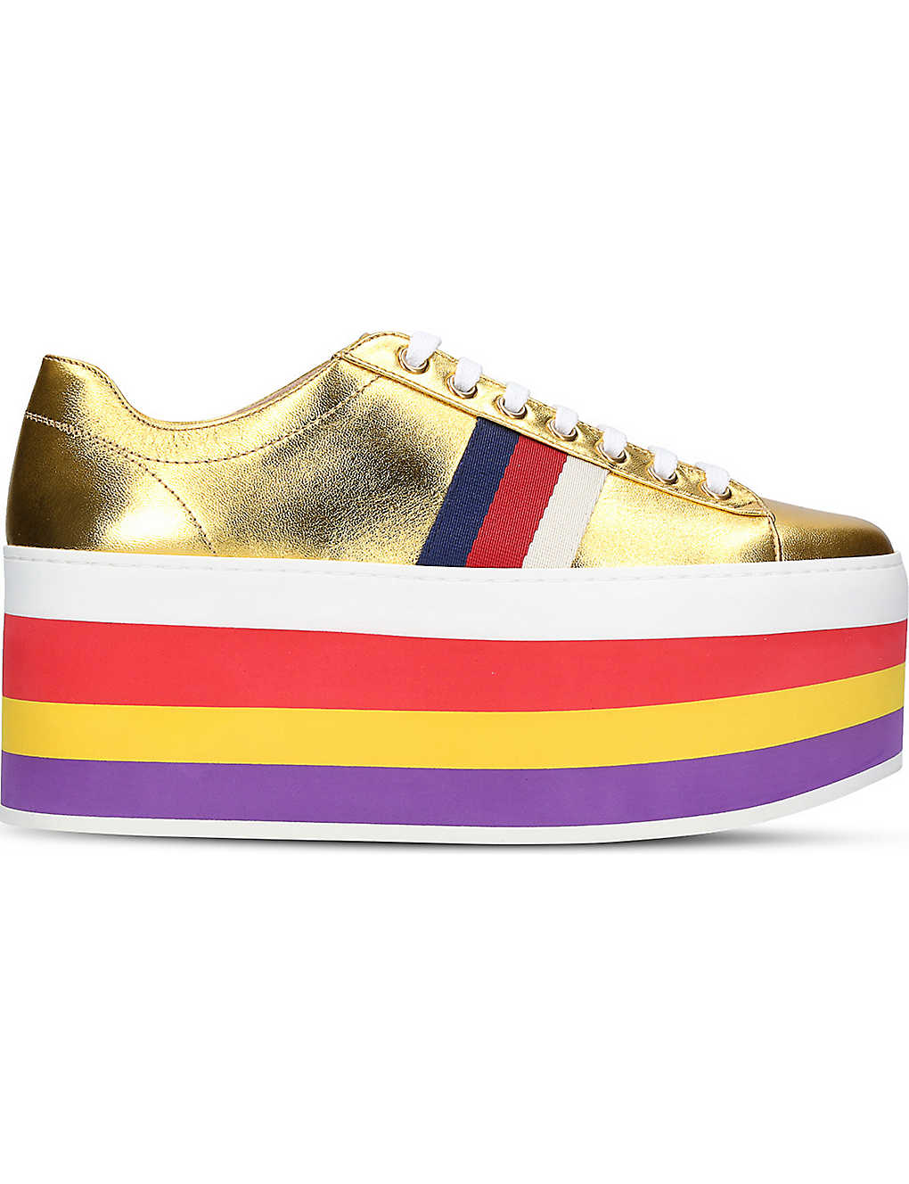 400ac52bbaa2 GUCCI - Peggy leather platform sneakers