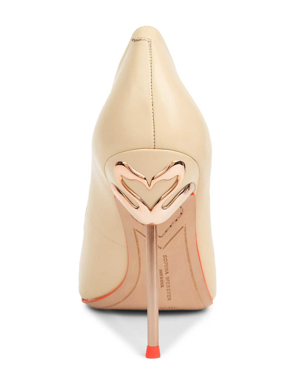 SOPHIA WEBSTER Coco flamingo leather court shoes (Nude